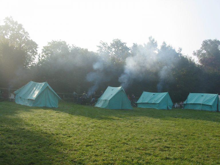 Tents in campsite